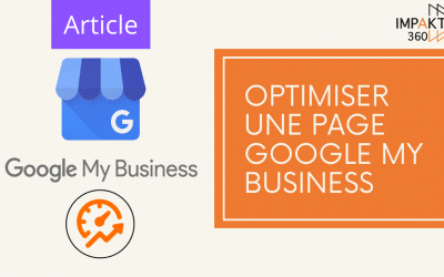 Optimiser une page Google My Business